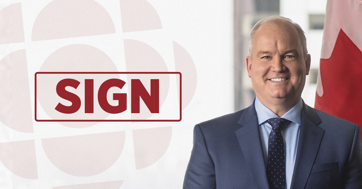 Let's make sure Erin O'Toole keeps his promise – Defund the CBC!