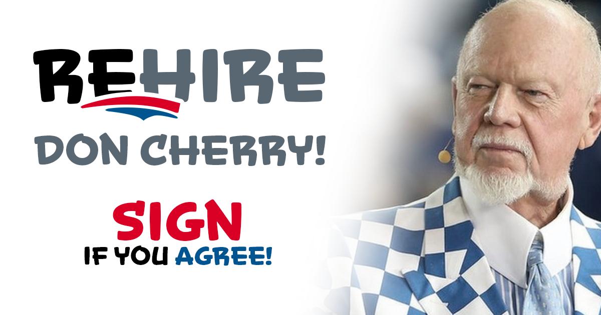 Sportsnet needs to rehire Don Cherry!
