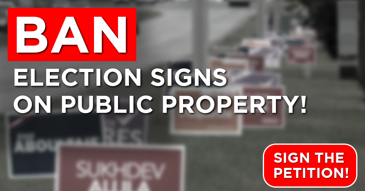 Ban Election Signs on Public Property!